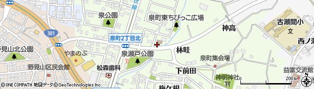 愛知県豊田市泉町(瀬戸)周辺の地図