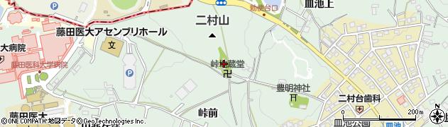 峠地蔵堂周辺の地図