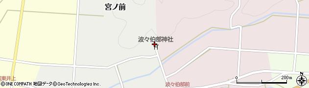 兵庫県丹波篠山市波々伯部周辺の地図