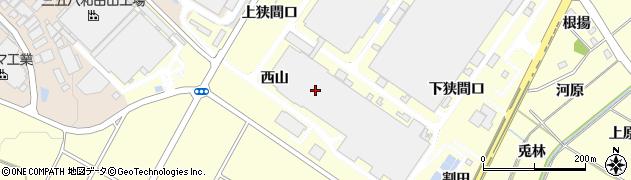 愛知県みよし市明知町(西山)周辺の地図