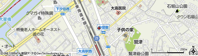 愛知県名古屋市緑区大高町(中屋敷)周辺の地図