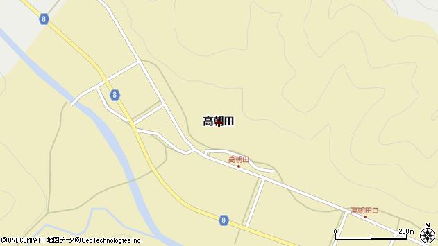 〒679-3122 兵庫県神崎郡神河町高朝田の地図
