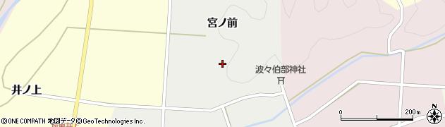 兵庫県丹波篠山市宮ノ前周辺の地図