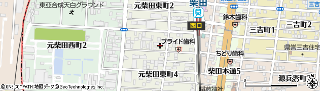 愛知県名古屋市南区元柴田東町3丁目周辺の地図