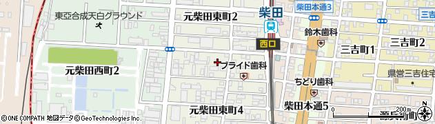 愛知県名古屋市南区元柴田東町3丁目13周辺の地図