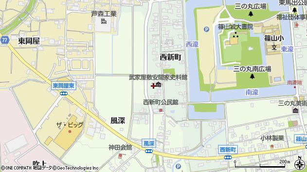 〒669-2334 兵庫県丹波篠山市西新町の地図