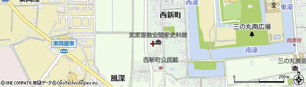 兵庫県丹波篠山市西新町周辺の地図