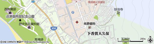 静岡県沼津市下香貫塚田周辺の地図
