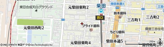 愛知県名古屋市南区元柴田東町周辺の地図