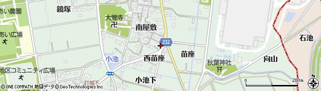 愛知県みよし市打越町(西苗座)周辺の地図