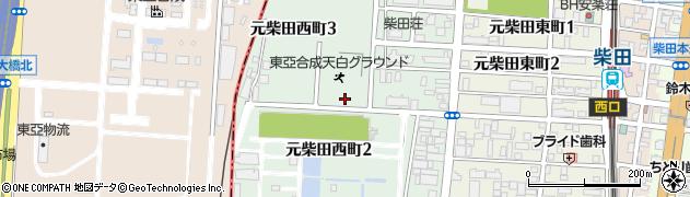 愛知県名古屋市南区元柴田西町周辺の地図