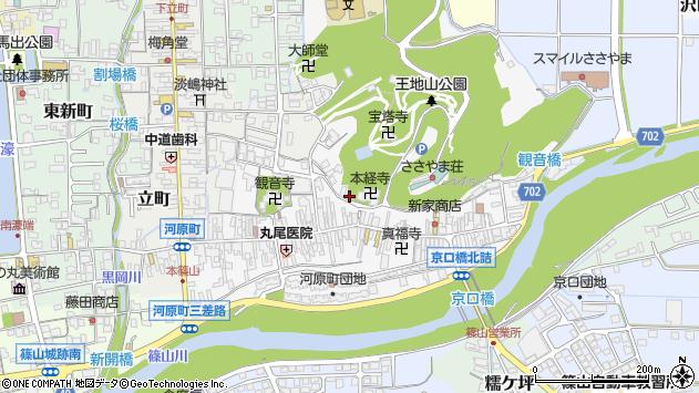 〒669-2325 兵庫県丹波篠山市河原町の地図