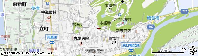 兵庫県丹波篠山市河原町周辺の地図