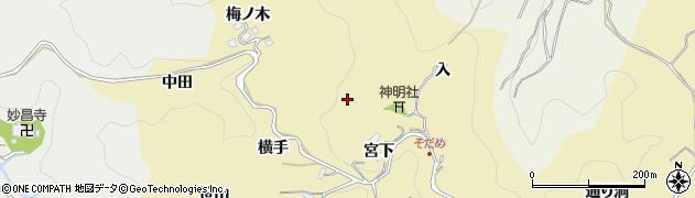 愛知県豊田市坂上町(長入)周辺の地図
