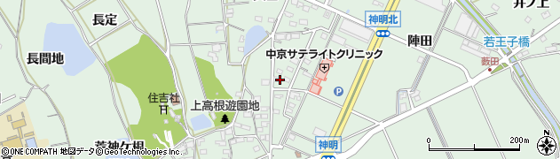 愛知県豊明市沓掛町(石畑)周辺の地図