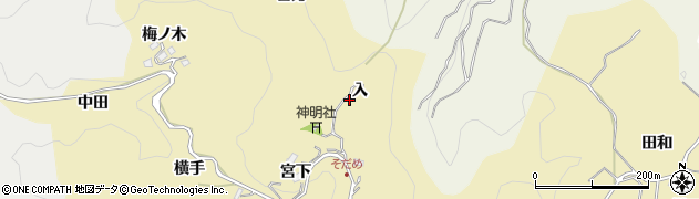 愛知県豊田市坂上町(入)周辺の地図