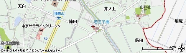 愛知県豊明市沓掛町(陣田)周辺の地図