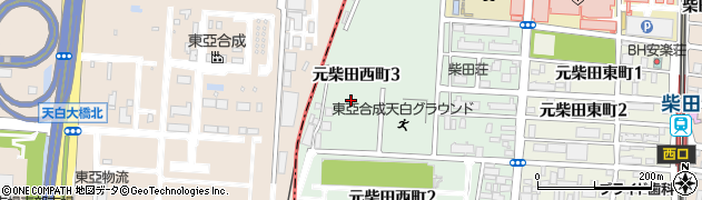 東亞合成社宅周辺の地図