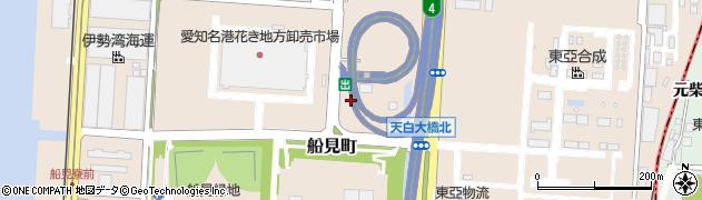 愛知県名古屋市港区船見町周辺の地図