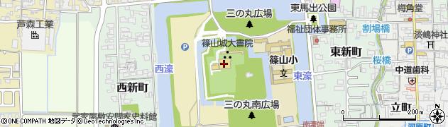 兵庫県丹波篠山市北新町周辺の地図