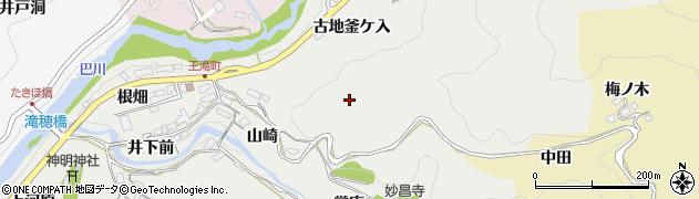 愛知県豊田市王滝町(山崎)周辺の地図