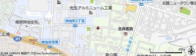 愛知県豊田市泉町(山田)周辺の地図