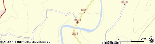 塩山4周辺の地図