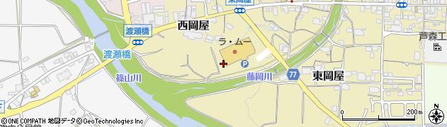 兵庫県丹波篠山市東岡屋周辺の地図