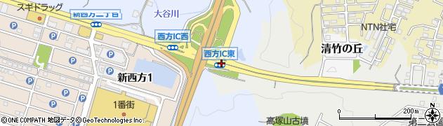 西方IC東周辺の地図