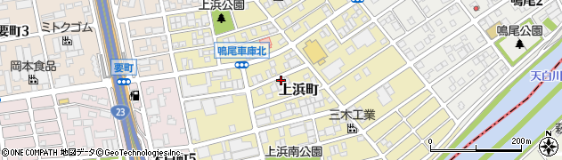 愛知県名古屋市南区上浜町周辺の地図