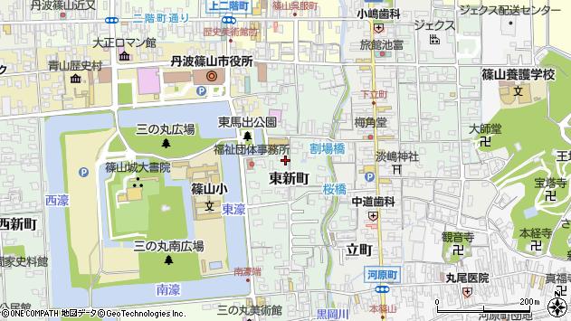 〒669-2324 兵庫県丹波篠山市東新町の地図
