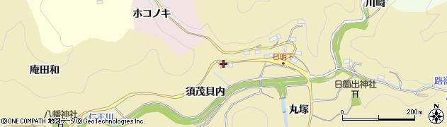 愛知県豊田市坂上町(須茂貝内)周辺の地図