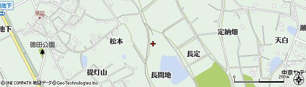 愛知県豊明市沓掛町(長間地)周辺の地図