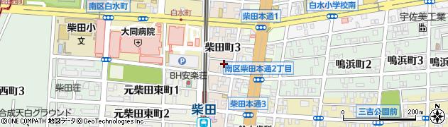 愛知県名古屋市南区柴田町周辺の地図