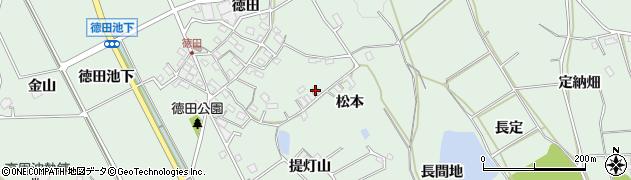 愛知県豊明市沓掛町(松本)周辺の地図