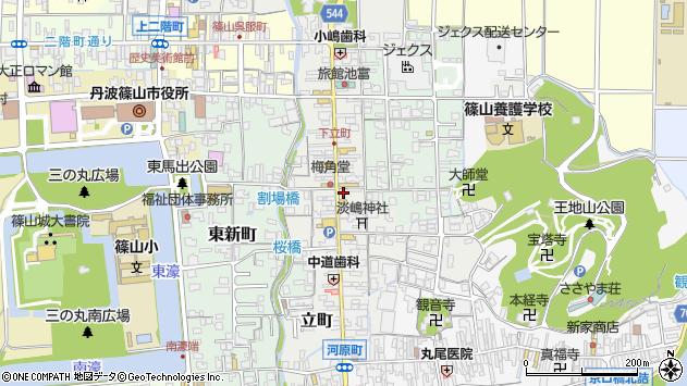 〒669-2323 兵庫県丹波篠山市立町の地図
