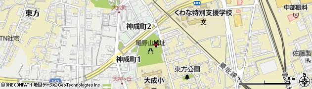 尾野神社周辺の地図