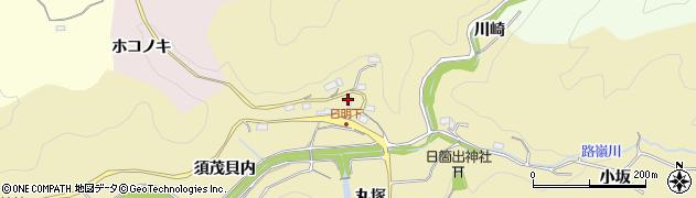 愛知県豊田市坂上町(日向)周辺の地図