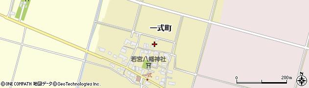 滋賀県東近江市一式町周辺の地図