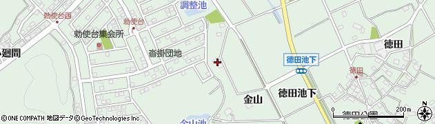 愛知県豊明市沓掛町(金山)周辺の地図