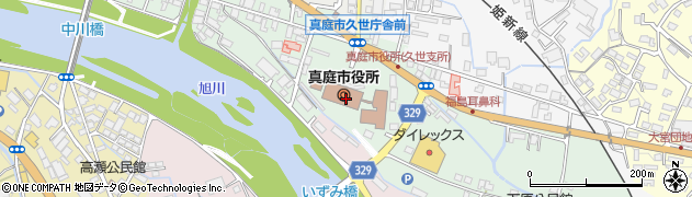 岡山県真庭市周辺の地図