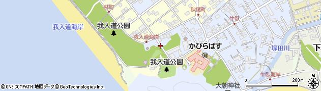 静岡県沼津市我入道蔓陀ケ原周辺の地図