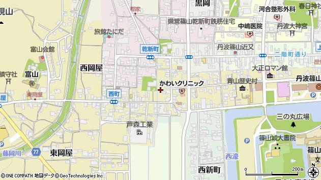 〒669-2342 兵庫県丹波篠山市西町の地図