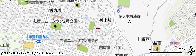 愛知県豊田市志賀町(神上り)周辺の地図