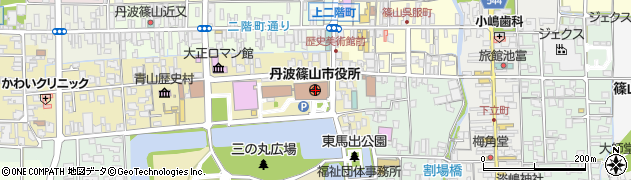 兵庫県丹波篠山市周辺の地図