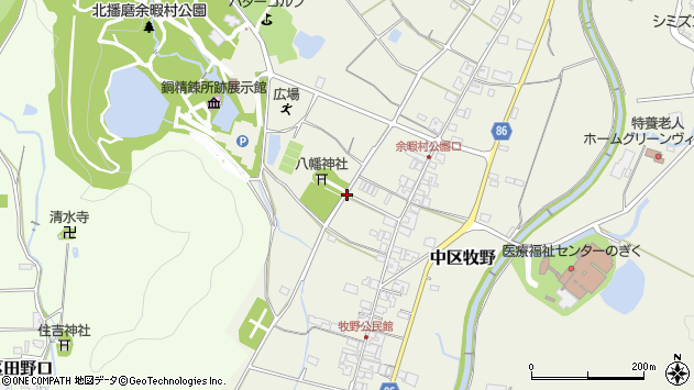 〒679-1103 兵庫県多可郡多可町中区牧野の地図