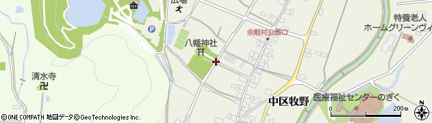 兵庫県多可町(多可郡)中区牧野周辺の地図