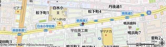愛知県名古屋市南区鶴見通周辺の地図