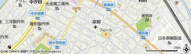 愛知県名古屋市緑区鳴海町(京田)周辺の地図