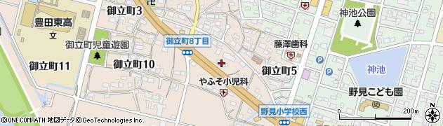 かべや周辺の地図